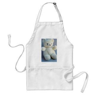 Charming White teddy bear Standard Apron