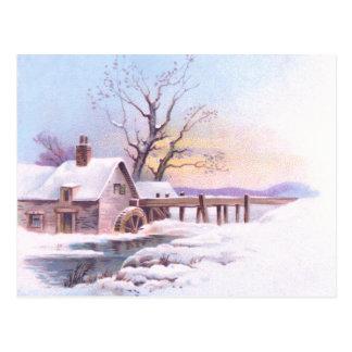 Charming Winter Scene 3 Postcard