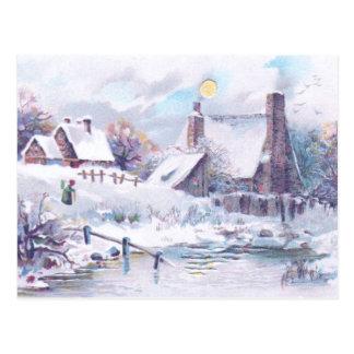 Charming Winter Scene Postcard