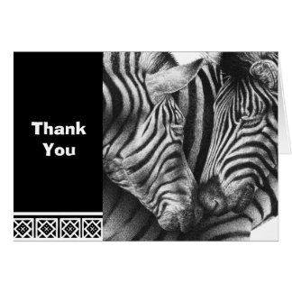 Charming Zebras Note Card