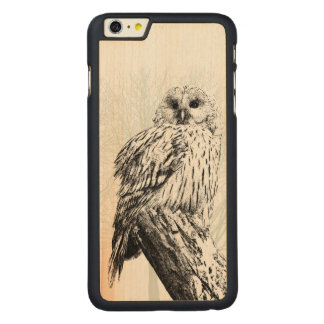 Charred Owl on Wood! Carved® Maple iPhone 6 Plus Case