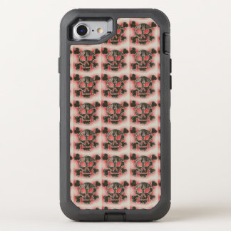 Charred Skull and Crossbones OtterBox Defender iPhone 8/7 Case