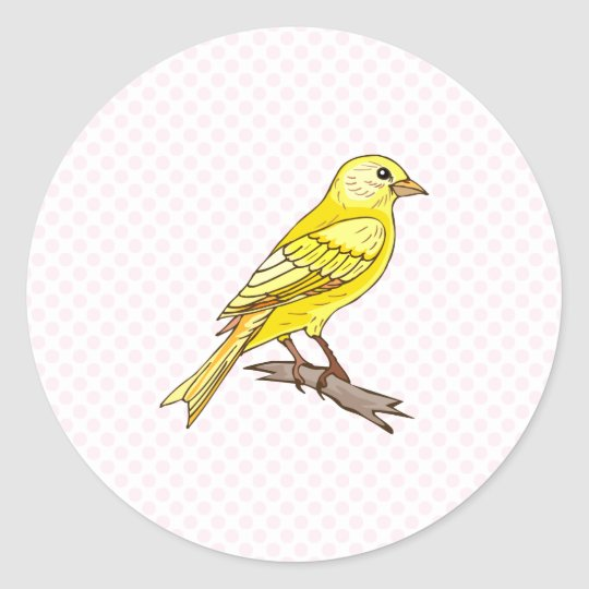 Charry Canary Classic Round Sticker