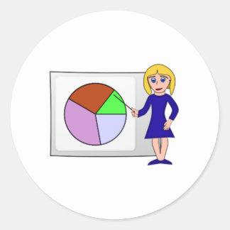 Chart and Graph Round Sticker
