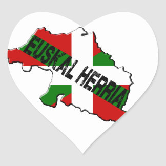 Chart Basque Country plus flag euskal herria Heart Sticker