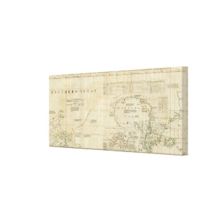Chart containing part of the Icy Sea Canvas Print