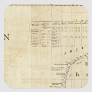 Chart containing part of the Icy Sea Square Sticker