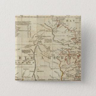 Chart containing the Coasts of California 15 Cm Square Badge