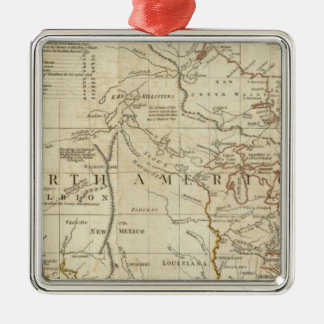 Chart containing the Coasts of California Christmas Ornament