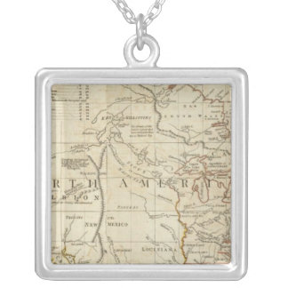 Chart containing the Coasts of California Silver Plated Necklace
