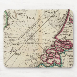 Chart of part of coast of England Mouse Pad