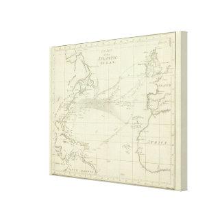 Chart of the Atlantic Ocean Canvas Print