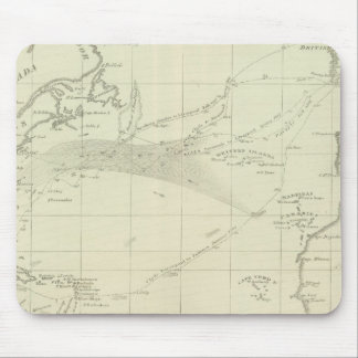 Chart of the Atlantic Ocean Mouse Mat