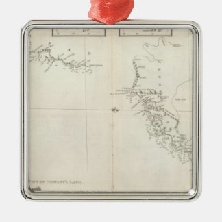 Chart of the Discoveries to the North of Japan Ornament
