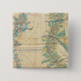 Chart of The Lower Mississippi River 15 Cm Square Badge