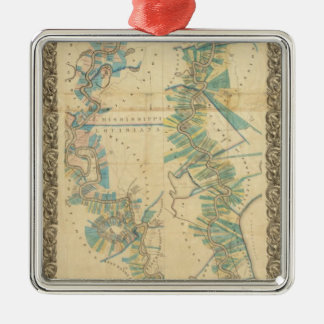 Chart of The Lower Mississippi River Christmas Ornament