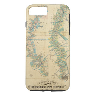 Chart of The Lower Mississippi River iPhone 8 Plus/7 Plus Case
