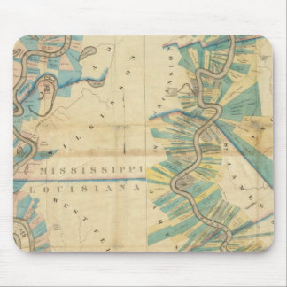 Chart of The Lower Mississippi River Mouse Mat
