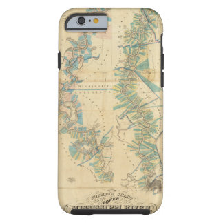 Chart of The Lower Mississippi River Tough iPhone 6 Case