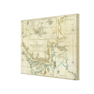 Chart Of The Straits Of Magellan Canvas Print