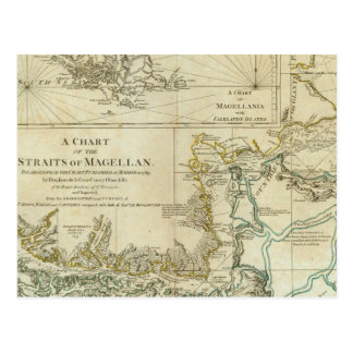 Chart Of The Straits Of Magellan Postcard