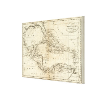 Chart of the West Indies 2 Canvas Print