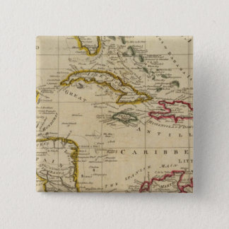 Chart of the West Indies 3 15 Cm Square Badge
