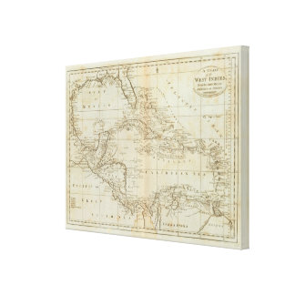 Chart of the West Indies 3 Canvas Print