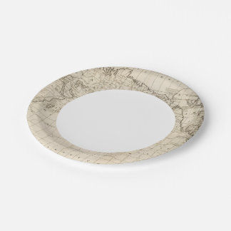 Chart of the World Paper Plate