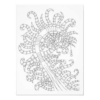 Chart to color GraphiZen 17 Cm X 22 Cm Invitation Card
