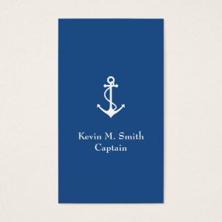 Charter Boat Captain Blue and White Anchor