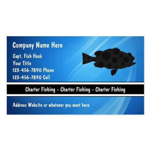 Charter fishing business cards zazzle for Fishing charter business cards