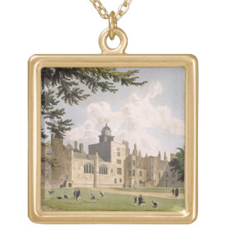 Charter House from the Play Ground, from 'History Gold Plated Necklace