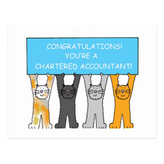 Chartered accountant congratulations. postcard