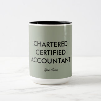 """Chartered Certified Accountant"" Two-Tone Coffee Mug"