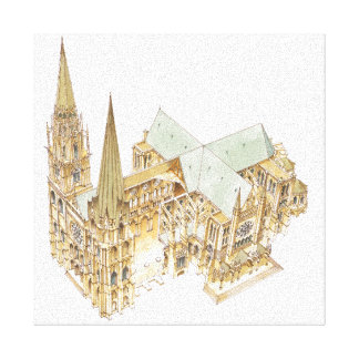 Chartres Cathedral. France Canvas Print