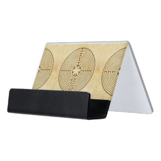 Chartres Labyrinth antique style 1 + your ideas Desk Business Card Holder