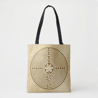Chartres Labyrinth antique style 1 + your ideas Tote Bag