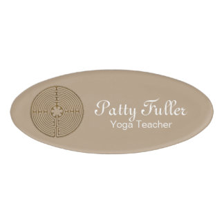 Chartres Labyrinth antique style + your ideas Name Tag
