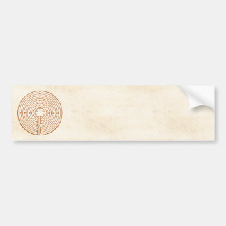 Chartres Labyrinth Bumper Sticker