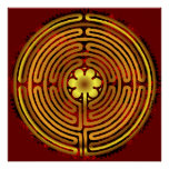 Chartres Labyrinth Fire Flame Print