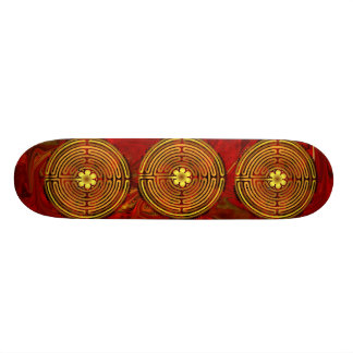 Chartres Labyrinth Fire Skateboard