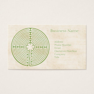 Chartres Labyrinth Green Business Card