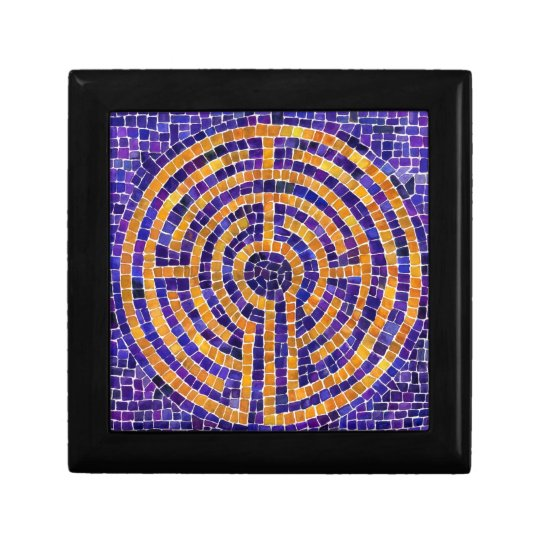 Chartres Labyrinth Mosaic Sm Gift Box w/ Tile