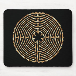 Chartres Labyrinth Pearl Dark Paths Mousepad