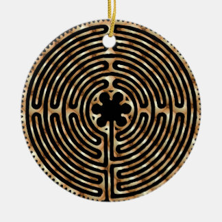 Chartres Labyrinth Pearl Ornament