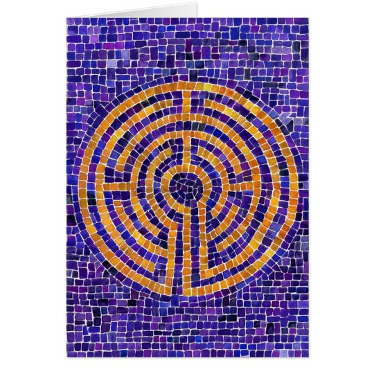 Chartres Mosaic BLANK Note Card