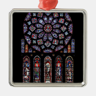 CHARTRES VI STAINED GLASS CHRISTMAS ORNAMENT