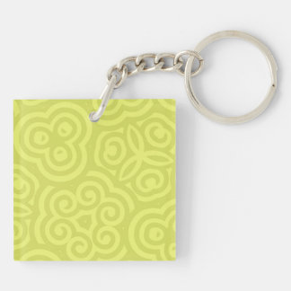 Chartreuse abstract pattern. keychains