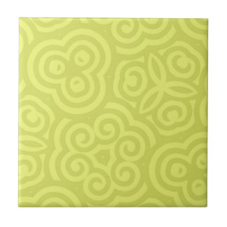 Chartreuse abstract pattern. small square tile